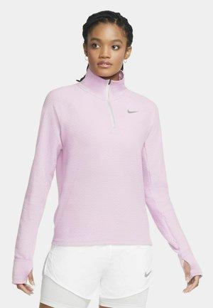LÖPARTRÖJA NIKE SPHERE MED HALVLÅNG DRAGKEDJA FÖR KVINNOR - Sports shirt - beyond pink/heather