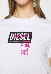 Diesel - T-SILY-E52 T-SHIRT - T-shirt print - white - 5