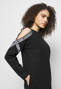 KARL LAGERFELD - COLD SHOULDER DRESS - Denní šaty - black - 3