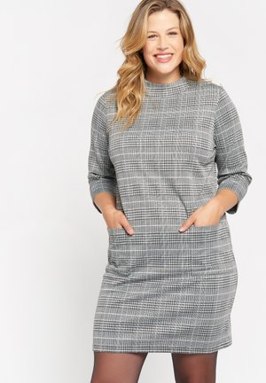CHEQUERED  - Day dress - grey mid mel