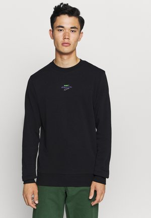 AVENIR GRAPHIC CREW - Sweatshirt - black/fluo green