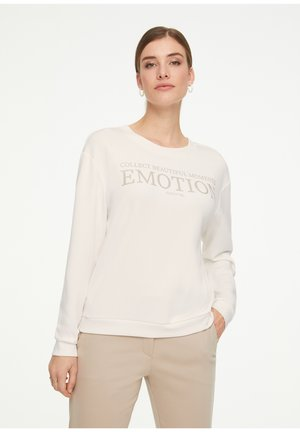 Sweatshirt - offwhite placed print