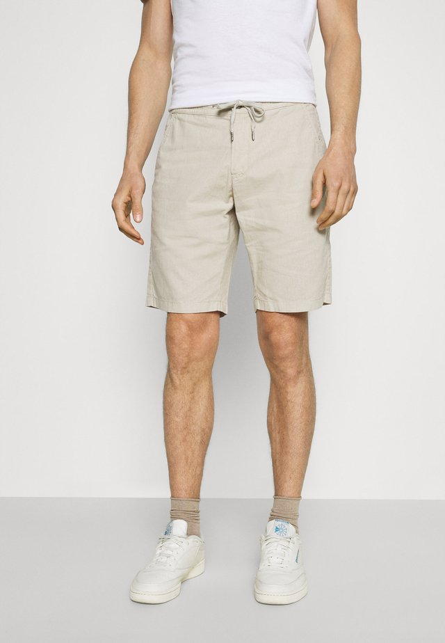 ELASTIC WAIST - Shorts - off white mix
