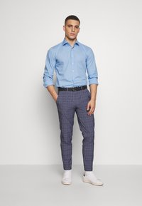 Jack & Jones PREMIUM - JPRBLAJONES CHECK TROUSER - Kostymbyxor - dark navy - 1