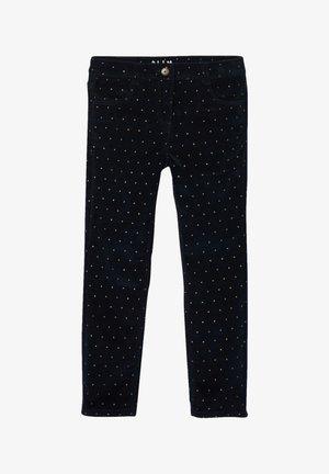 Slim fit jeans - marine bedruckt