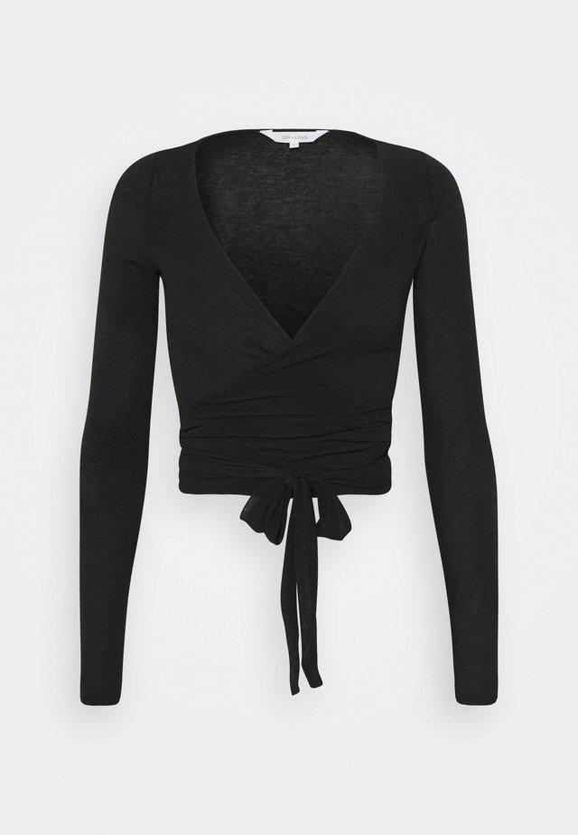 ANNE - Long sleeved top - black
