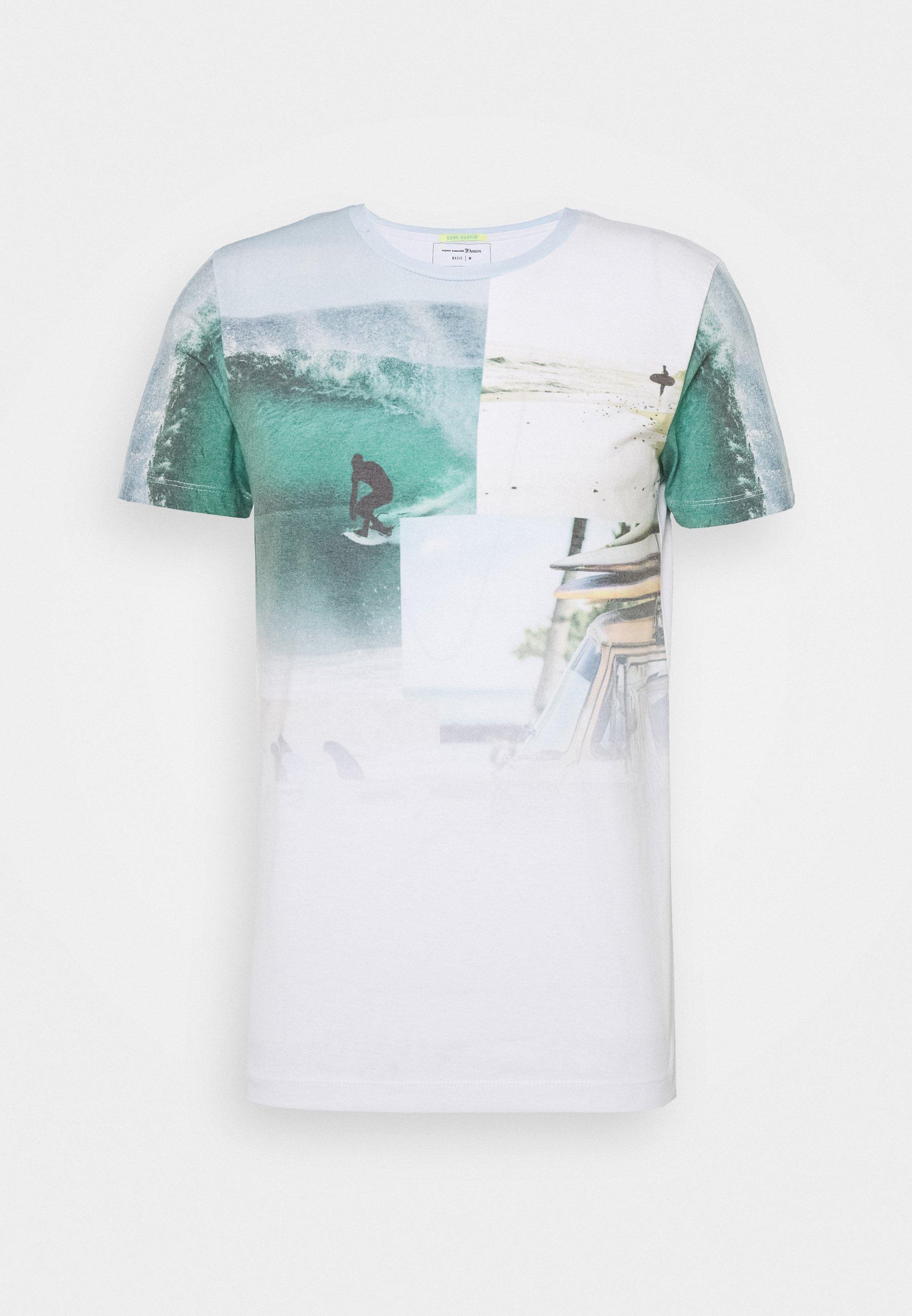 Tom Tailor Denim Fotoprint Camiseta para Hombre