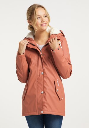 Waterproof jacket - terracotta