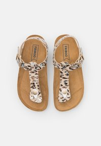 Friboo - T-bar sandals - taupe - 3