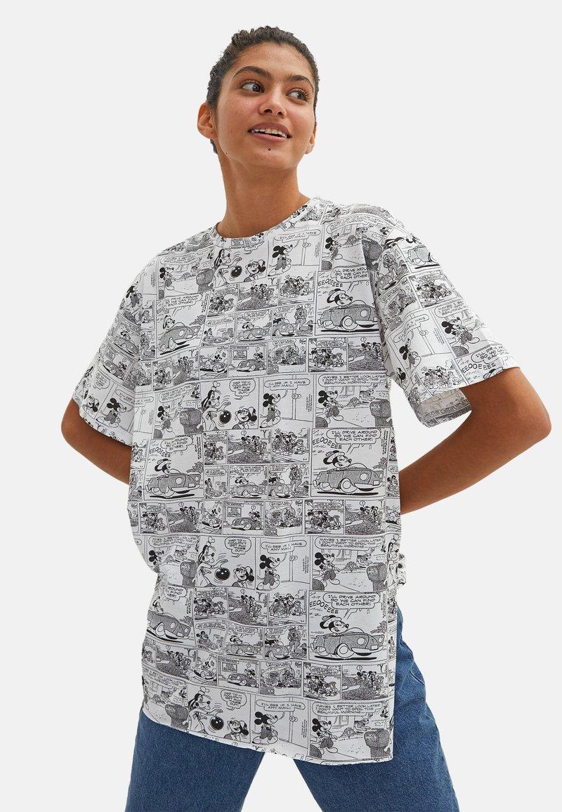 LC Waikiki - MICKEY MOUSE - Print T-shirt - white