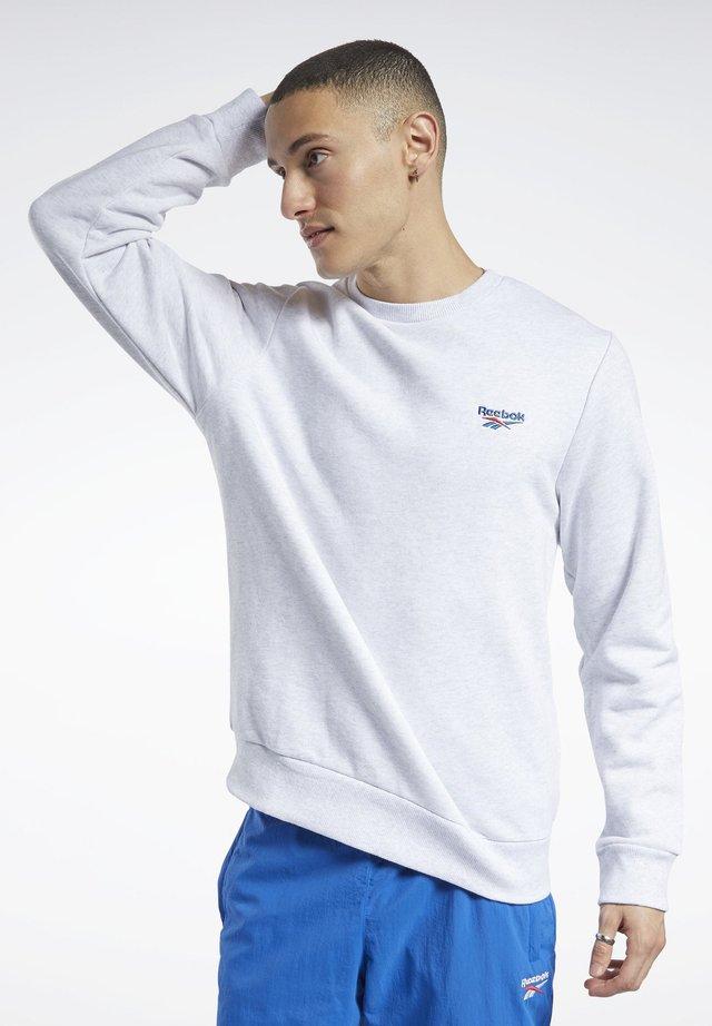 CLASSICS SMALL VECTOR CREW SWEATSHIRT - Sweatshirt - white