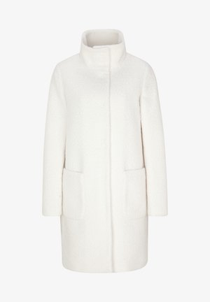 MIT STEHKRAGEN - Short coat - cream