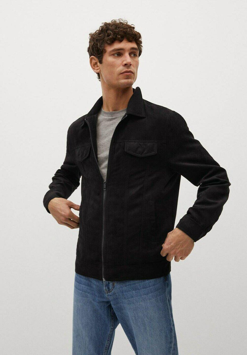 Men PERUSA - Faux leather jacket