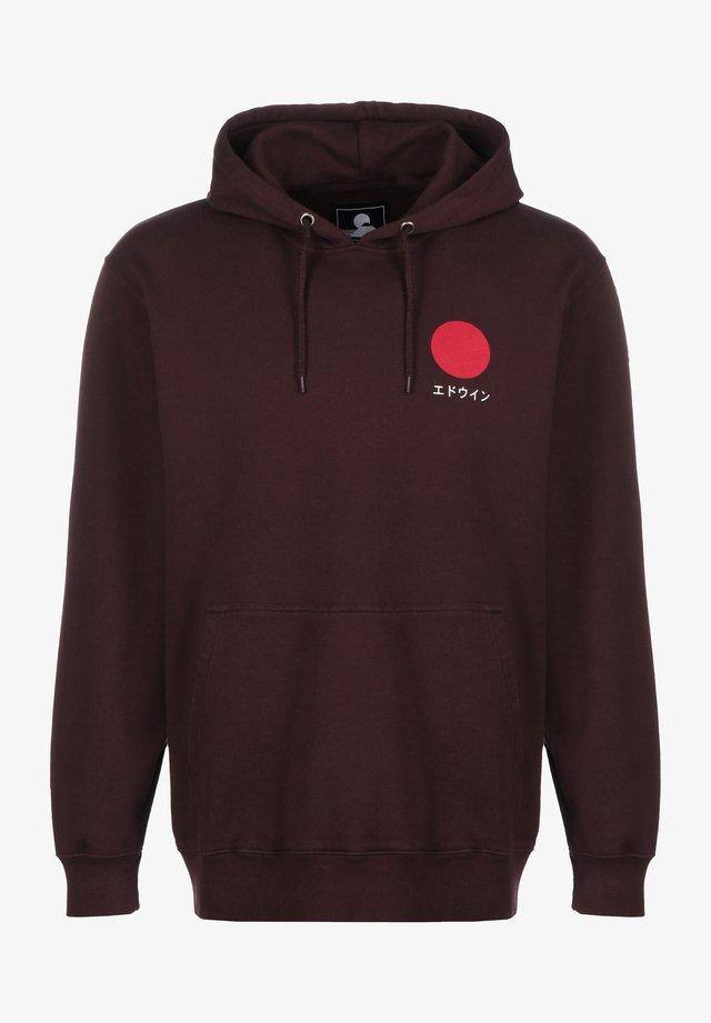 JAPANESE SUN  - Hoodie - puce garment washed