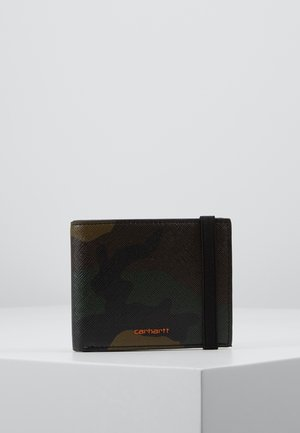 COATED BILLFOLD WALLET - Monedero - laurel/orange