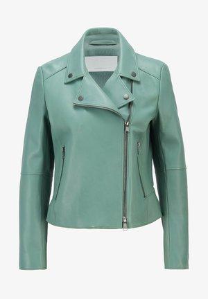 Leather jacket - light green