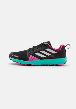 TERREX SPEED FLOW - Trail running shoes - core black/crystal white/screaming pink