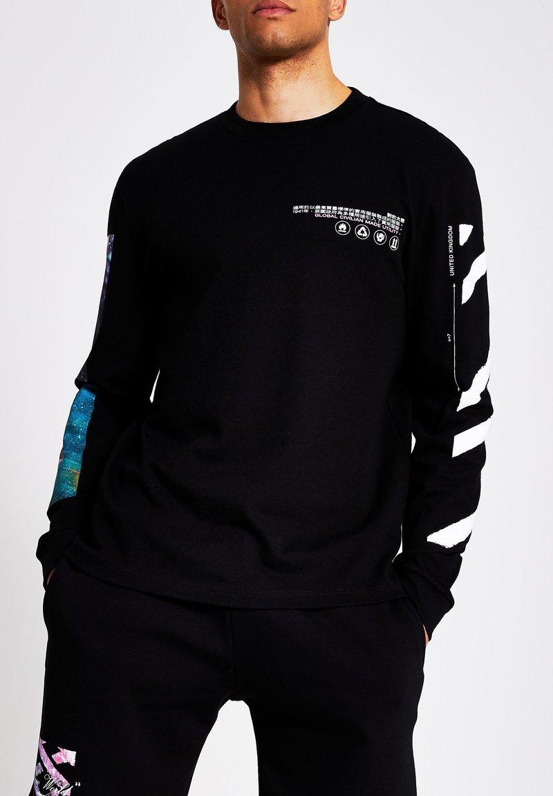 River Island - Long sleeved top - black