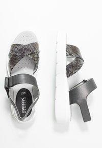 Geox - TAMAS - Platform sandals - dark grey/taupe - 3
