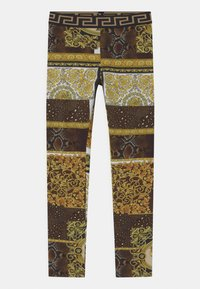 Versace - PATCHWORK HERITAGE ANIMALIER - Leggings - Trousers - gold/brown/white - 0