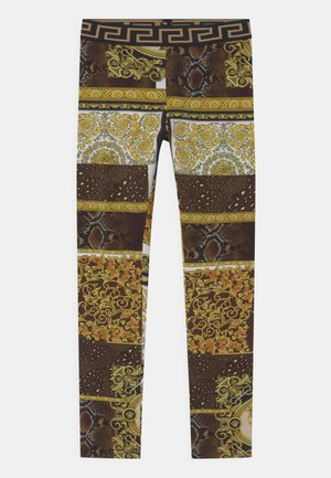 PATCHWORK HERITAGE ANIMALIER - Leggings - gold/brown/white