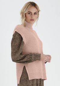 PULZ - Sweatshirt - mahogany rose melange - 2