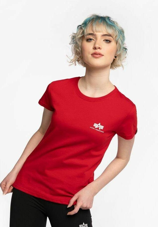 Alpha Industries - Print T-shirt - red
