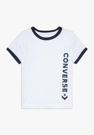 VINTAGE LOGO RINGER TEE - T-shirt print - white/obsidian