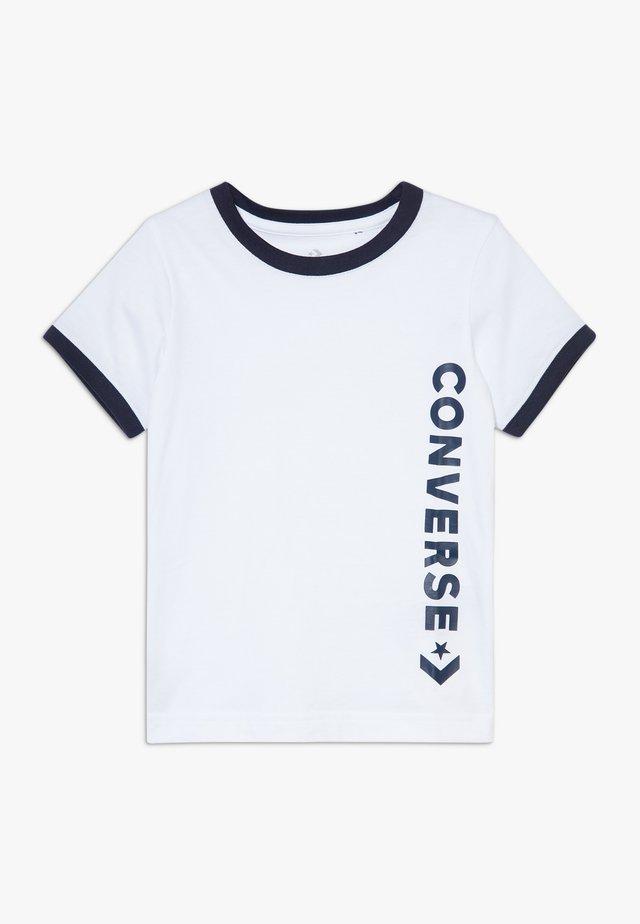 VINTAGE LOGO RINGER TEE - T-shirt imprimé - white/obsidian