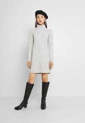 PCELLEN HIGH NECK DRESS  - Jumper dress - light grey melange