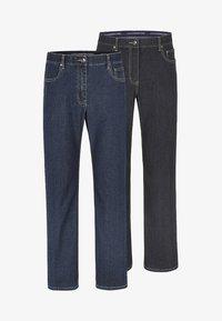 2PACK - Straight leg jeans - blau/schwarz