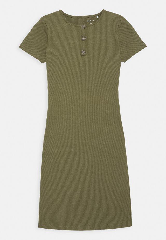 NKFRIBSA MIDI DRESS - Robe en jersey - ivy green