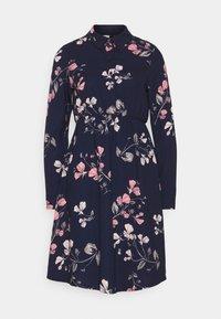 Vero Moda Petite - VMANNIE DRESS - Skjortekjole - night sky/hallie - 0