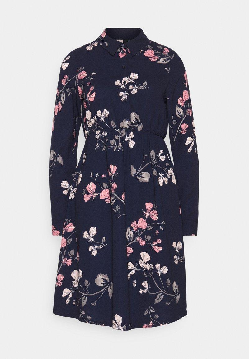 Vero Moda Petite - VMANNIE DRESS - Skjortekjole - night sky/hallie