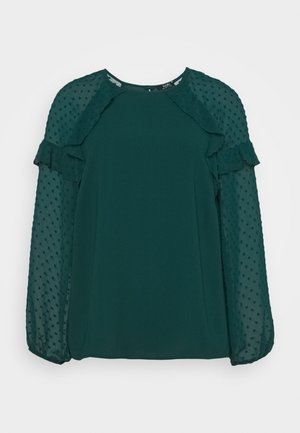 PLAIN DOBBY MIX  - Blouse - forest