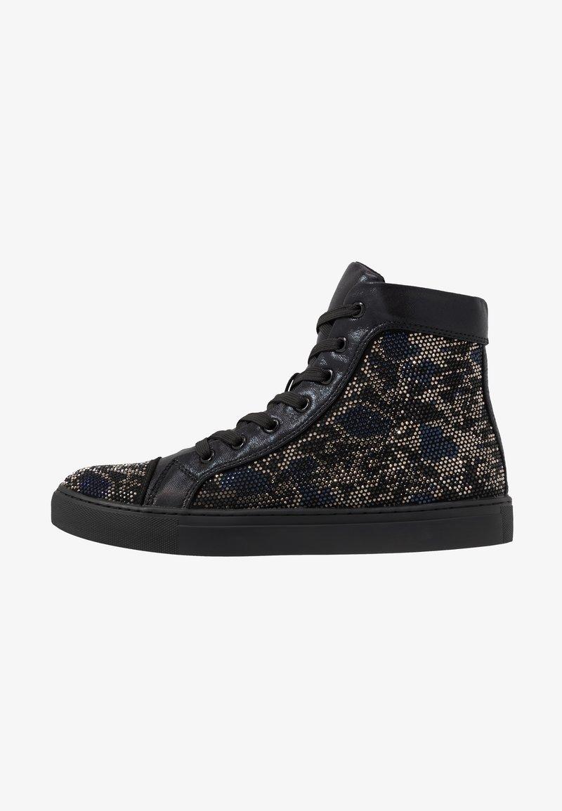 Steve Madden - RIOT - Sneakers hoog - black/silver