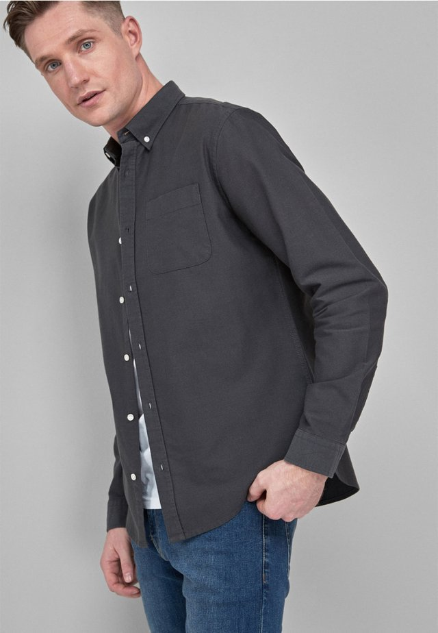 LONG SLEEVE STRETCH OXFORD - Koszula - mottled grey