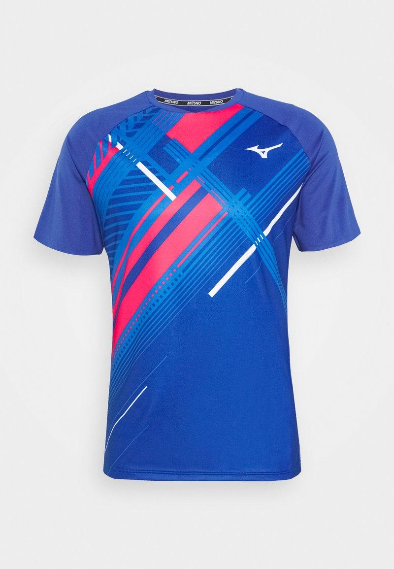 Mizuno - SHADOW TEE - T-shirts print - mazarine blue