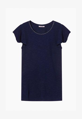 MIT ZIERNAHT - Blouse - blue