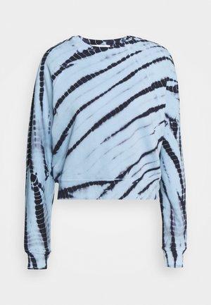 MODIFIED RAGLAN TIE DYE - Sweatshirt - light chambray/navy