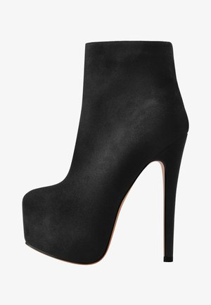 Platform ankle boots - mottled black