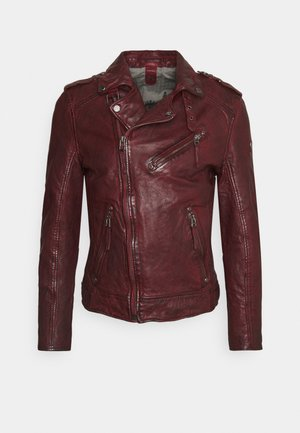 MALIK UNISEX - Leather jacket - oxblood
