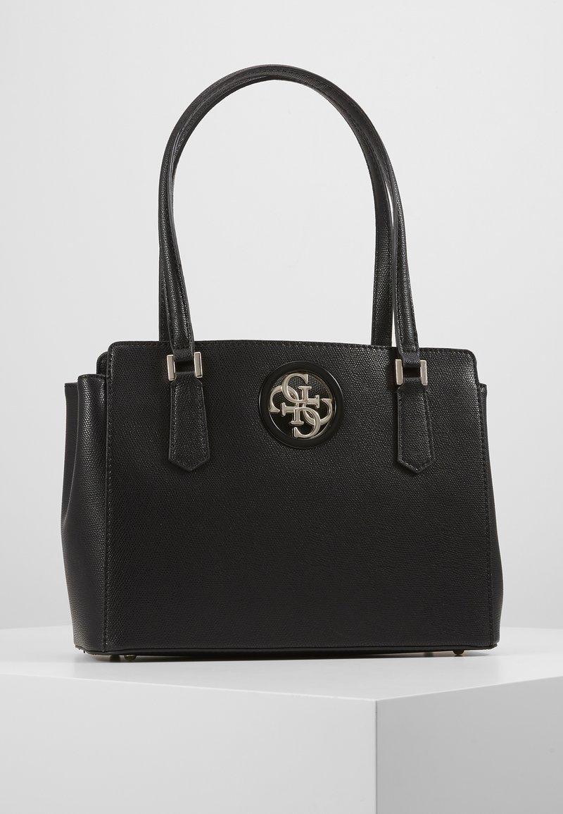 Guess - OPEN ROAD LUXURY SATCHEL - Handbag - black