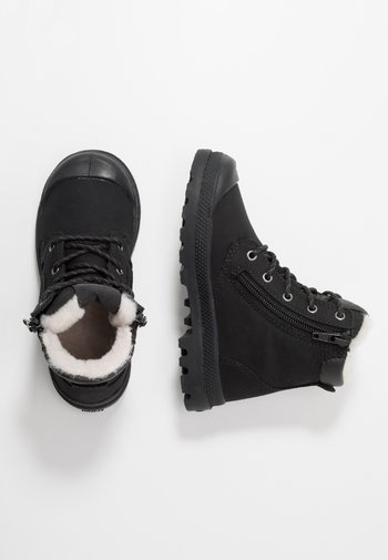 HI CUFF WPS - Lace-up ankle boots - black/forged iron
