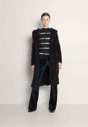 ONLCONTACT LONG HOODED COAT - Mantel - black