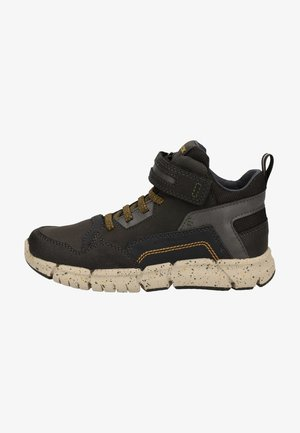 High-top trainers - black/military c0033