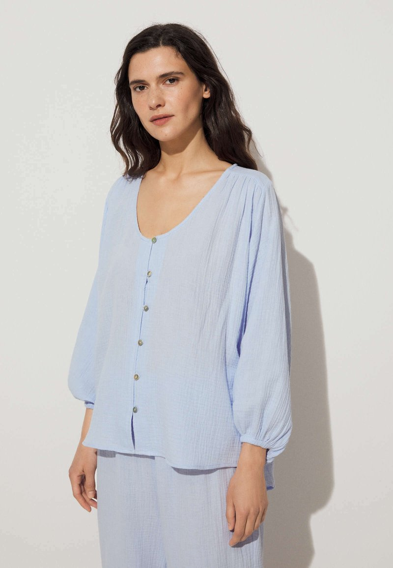 OYSHO - Pyjama top - light blue