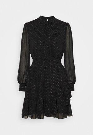 CALLIE SKATER MINI DRESS - Day dress - black