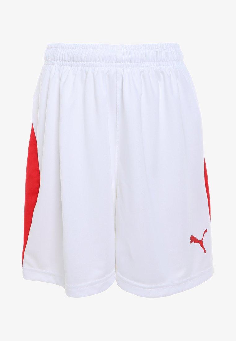 Puma - LIGA - Korte sportsbukser - white/red