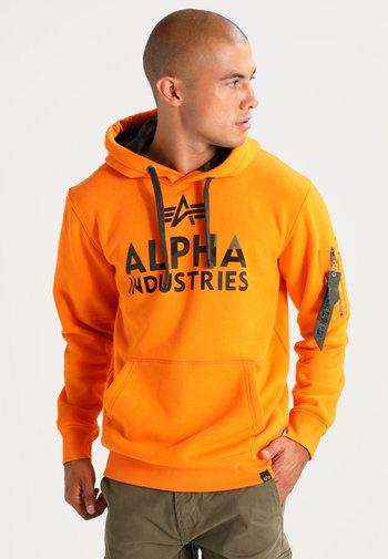 FOAM PRINT - Mikina skapucí - alpha orange
